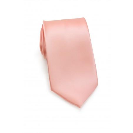Tropical Peach Wedding Necktie