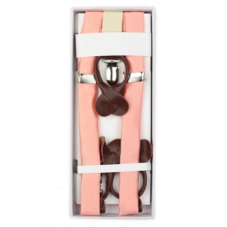 Tropical Peach Suspenders in Box