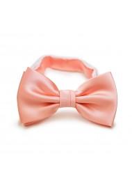 Tropical Peach Wedding Bow Tie