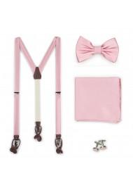 Petal Pink Dress Suspender BowTie Set