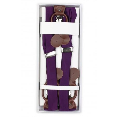 Bright Purple Suspender in Box