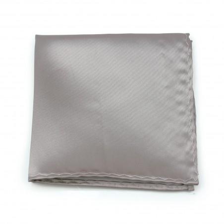 Elegant Silver Gray Pocket Square