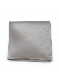 Elegant Silver Pocket Square