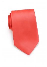 Neon Coral Necktie