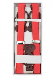 Neon Coral Suspenders in Box
