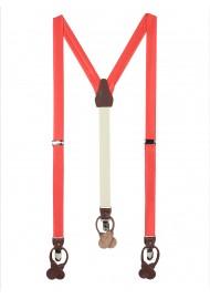 Neon Coral Suspenders