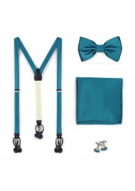 Formal Oasis Mens Bow Tie and Suspender Set