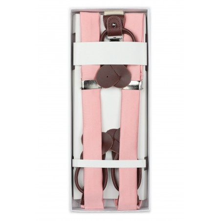 Candy Pink Suspenders in Box
