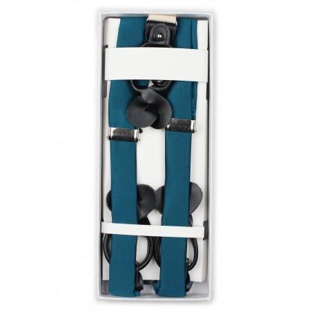 Teal Blue Suspenders in Box