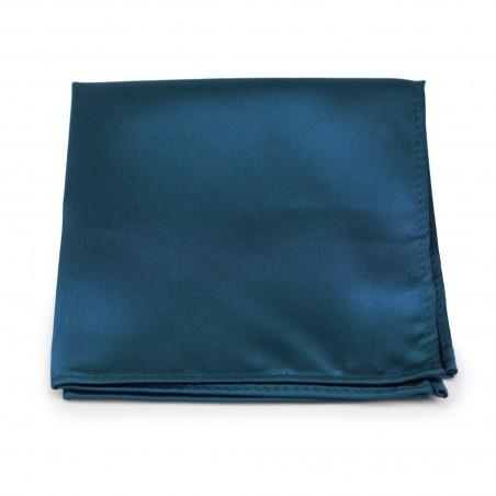 Teal Blue Pocket Square