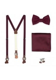 Solid Plum Suspender Bow...