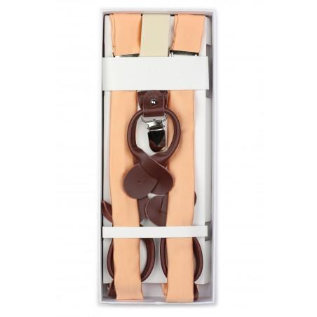 Peach Apricot Suspenders in Box