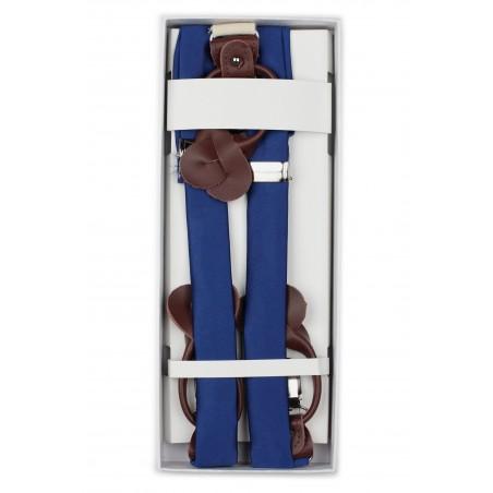 Royal Blue Mens Suspenders in Box