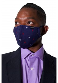 Navy Anchor Face Mask Styled