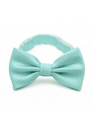 Pin Dot Bow Tie in Seamist