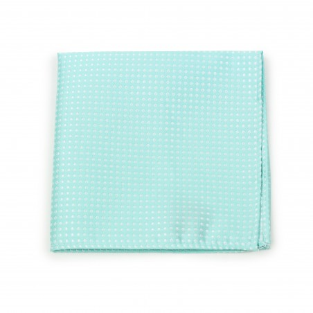 Pin Dot Pocket Square in Seamist