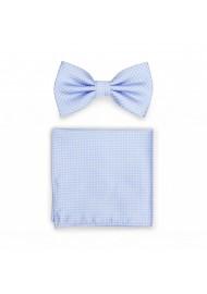 Baby Blue Bow Tie + Pocket Square Set