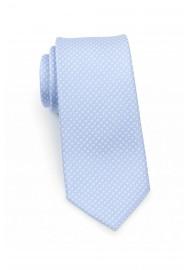 Narrow Pin Dot Tie in Baby Blue
