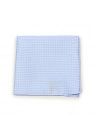 Pin Dot Pocket Square in Baby Blue