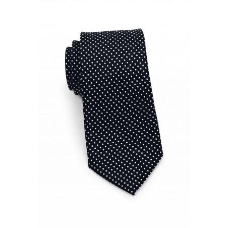 Slim Pin Dot Tie in Black