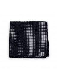 Pin Dot Hanky in Black