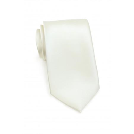 Solid Satin Tie in Solid Cream