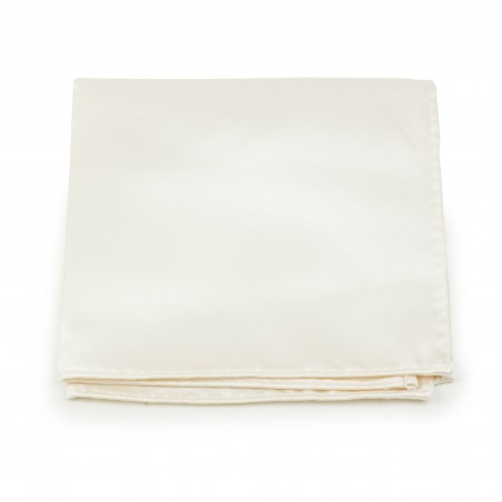 Solid Satin Pocket Square in Solid Cream