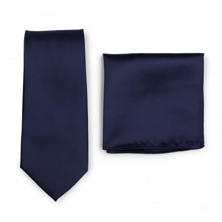 Necktie + Hanky Set in Navy