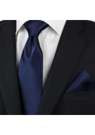 Necktie + Hanky Set in Navy Styled
