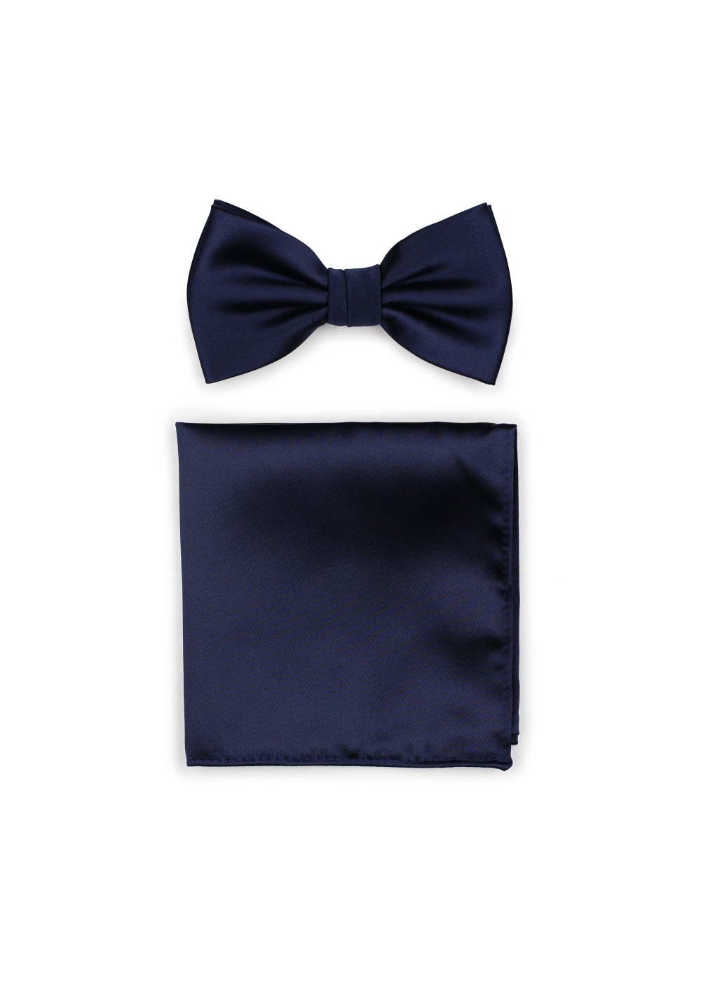 Classic Navy Bow Tie and Hanky Set