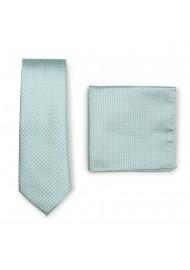 Soft Mint Pin Dot Tie Set