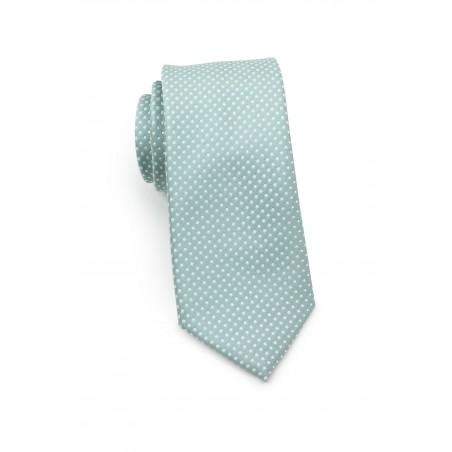 Soft Mint Pin Dot Tie