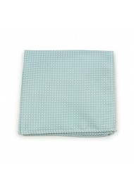 Mint Pin Dot Pocket Square