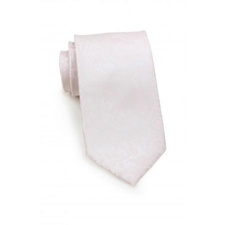 Soft Blush Paisley Tie
