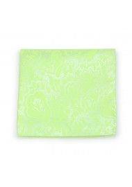 Pistacchio Green Paisley Pocket Square