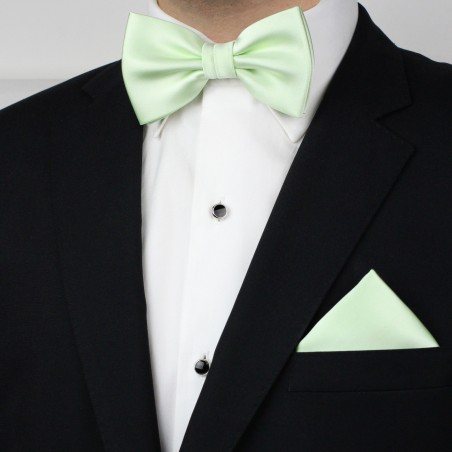 Mens Bow Tie Set in Wintermint Styled