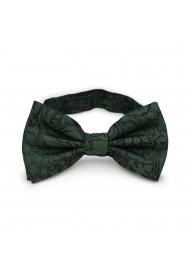 Pine Green Paisley Bow Tie