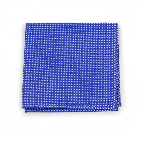 Horizon Blue Pin Dot Pocket Square