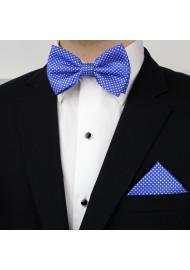Horizon Blue Pin Dot Bow Tie Set Styled