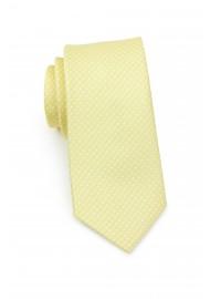 Pastel Yellow Pin Dot Necktie