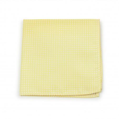 Pastel Yellow Pin Dot Pocket Square