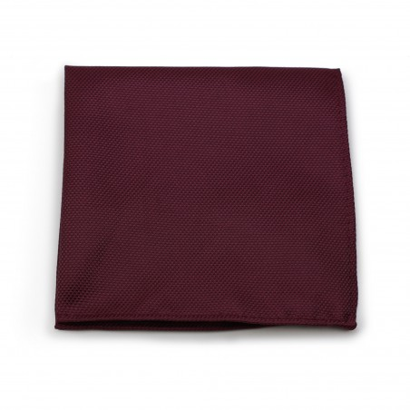 Maroon Red Textured Pocket Square