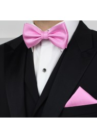 Carnation Pink Bow Tie in Matte Finish Styled