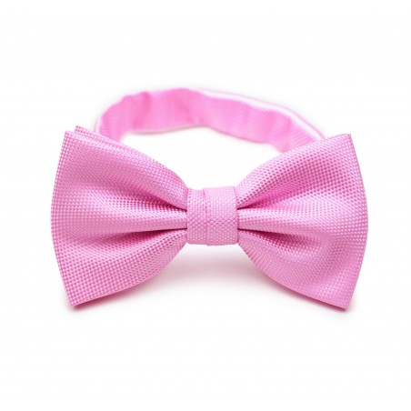 Carnation Pink Bow Tie in Matte Finish
