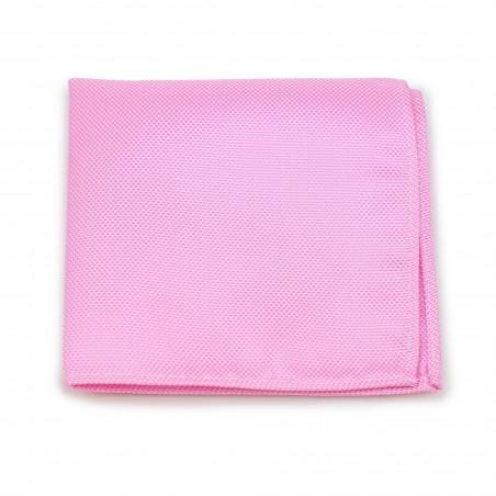 Carnation Pink Pocket Square in Matte Finish