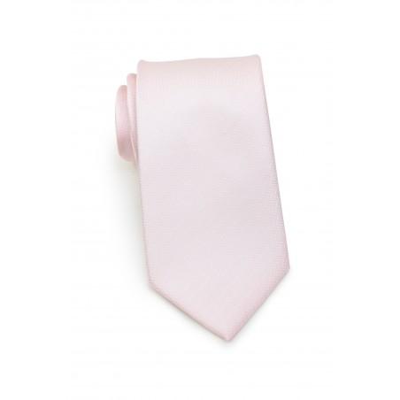 Herringbone Weave Necktie in Blush
