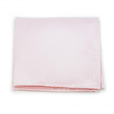 Herringbone Weave Pocket Square in Blush