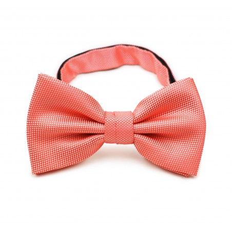 Neon Coral Bow Tie in Matte Finish