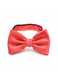 Neon Coral Red Bow Tie