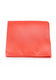 Neon Coral Red Pocket Square